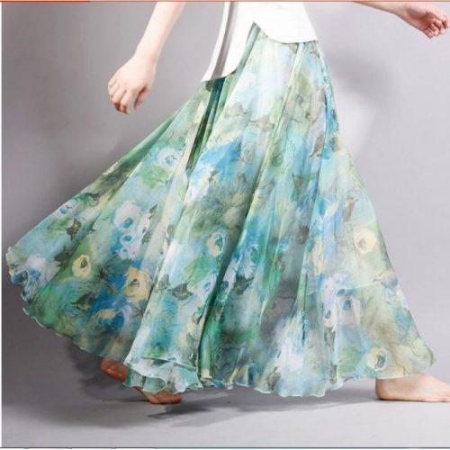 bohemia-long-skirts-green
