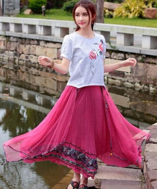floral-printed-long-skirt