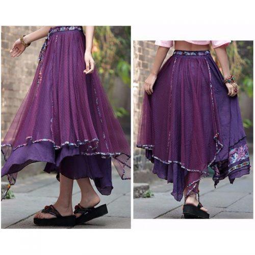 floral-printed-long-skirt-purple