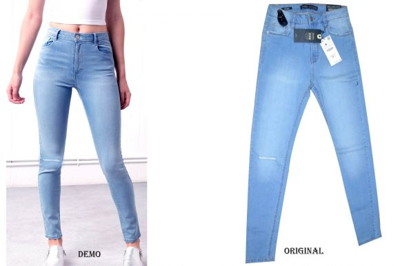 bershka-high-waist-ripped-light-blue-jeans