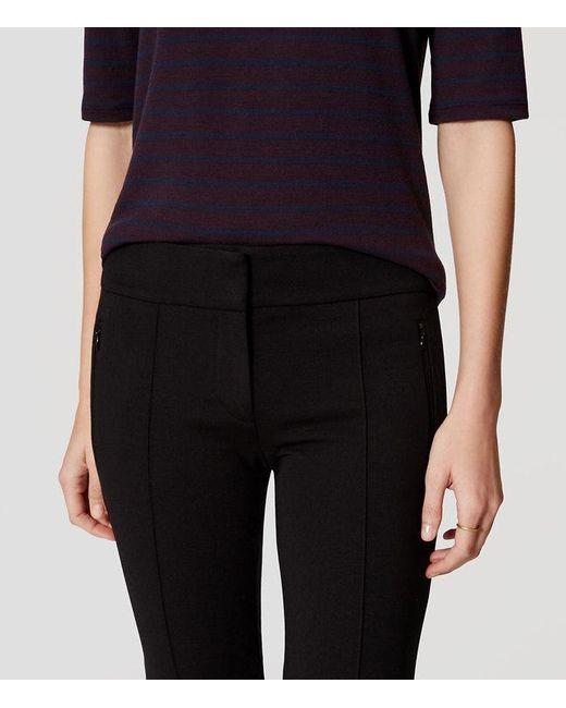 loft-zip-pocket-pintucked-ponte-pants-black-2