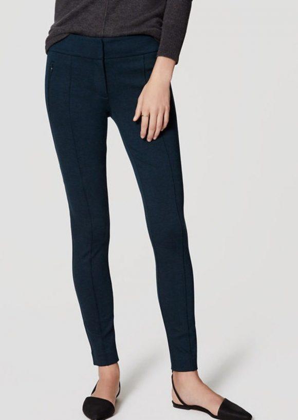 loft-zip-pocket-pintucked-ponte-pants-blue
