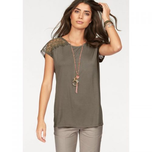 TEE-SHIRTS-WOMAN-KHAKI-GEMO