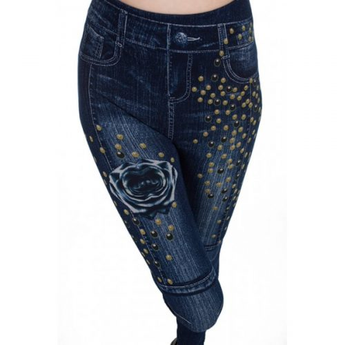 denim-printed-leggings-flower