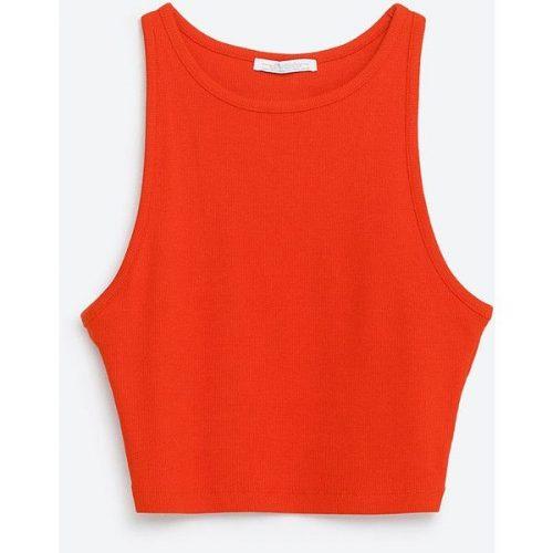 Zara-crop-top-red