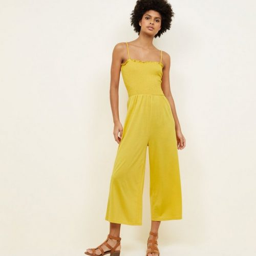 mustard-shirred-jersey-culotte-jumpsuit