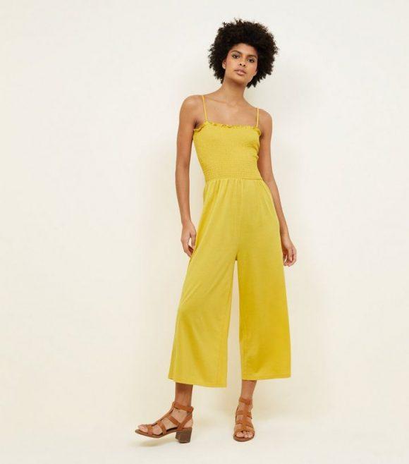 mustard-shirred-jersey-culotte-jumpsuit