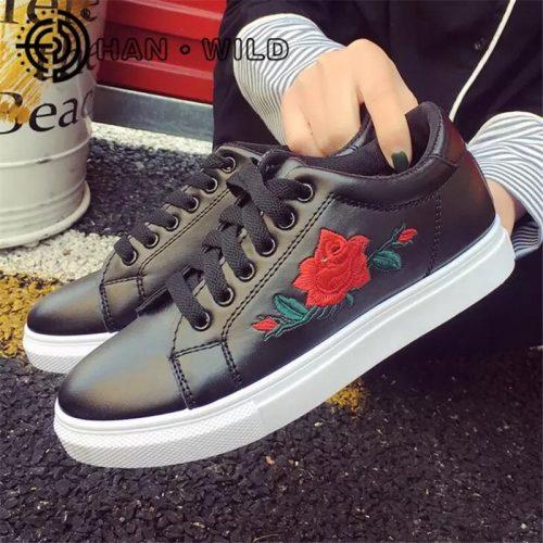 black-floral-shoe