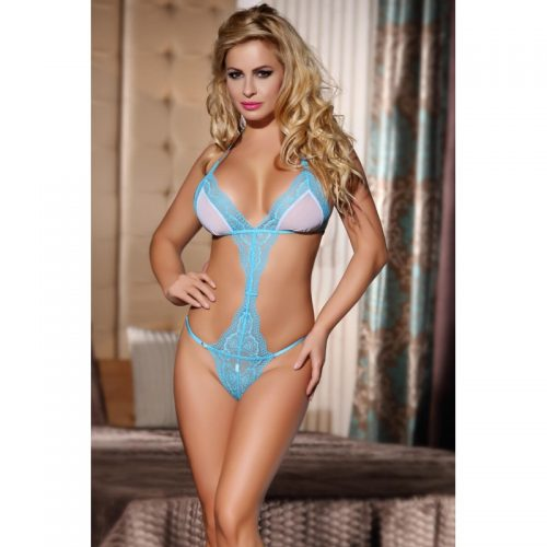 1pc-Floral-lace-and-mesh-halter-teddy-with-adjustable-belt