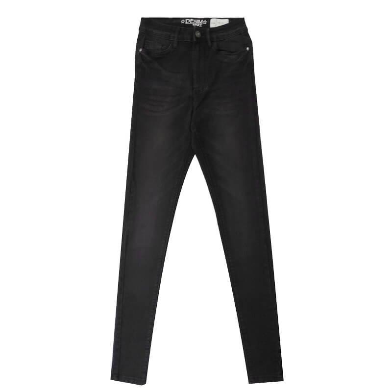 Black-Super-Skinny-Stretchable-Jeans-Pants-Denim-1982