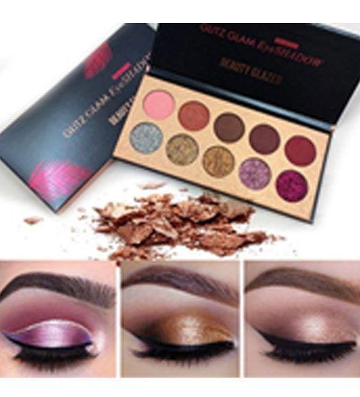 Beauty Glazed 10 Colors Glitz Glam Eye shadow palette – 100gm - TSH1080