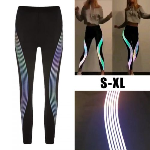 Reflective-Leggings-Glow-in-the-Dark-Night-Light-Side-Stripes-Shiny-Sports-Yoga-Pants-Dancing-Tights